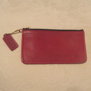 Coach Vintage Red Leather Pouch